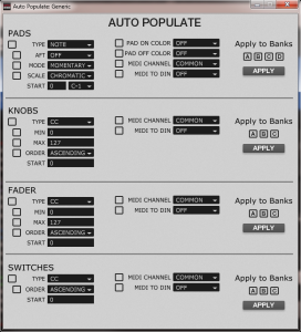 AKAI MPD232 Auto Populate Tool