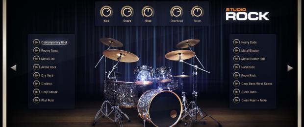 Addictive Drums 2 - Kit Main View (Studio Rock AdPak)