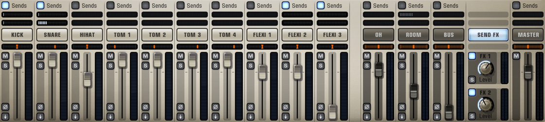 Addictive Drums 2 - Mixer Section