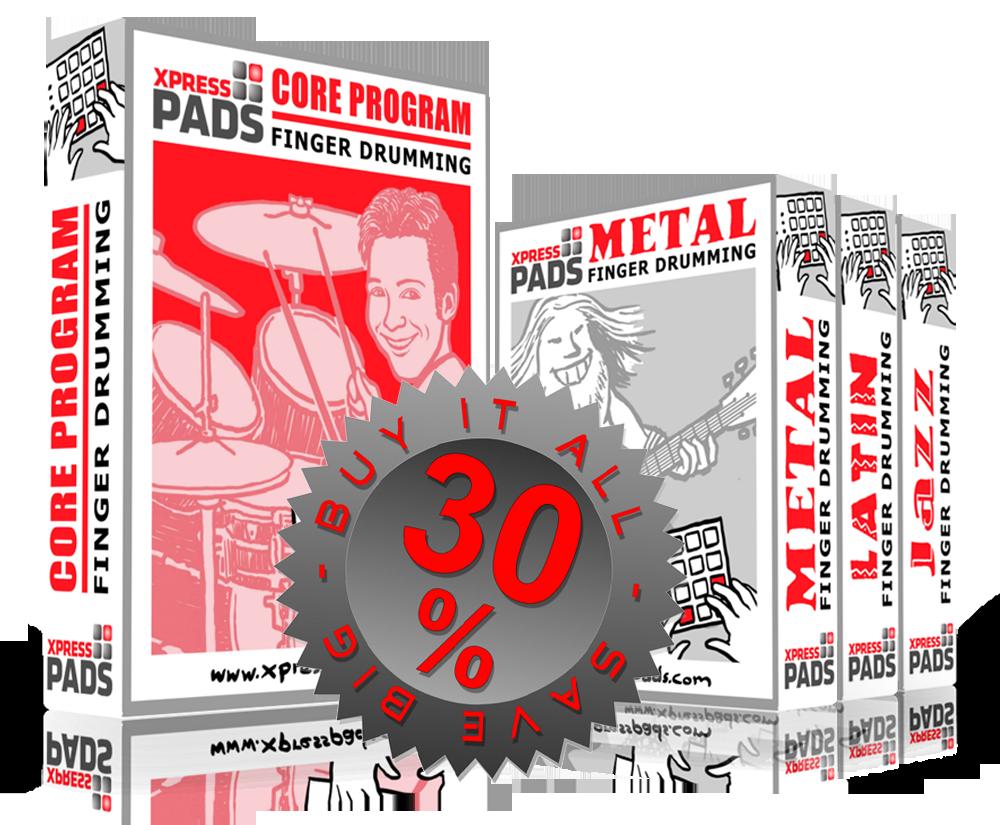 XpressPads Finger Drumming Course Complete Program