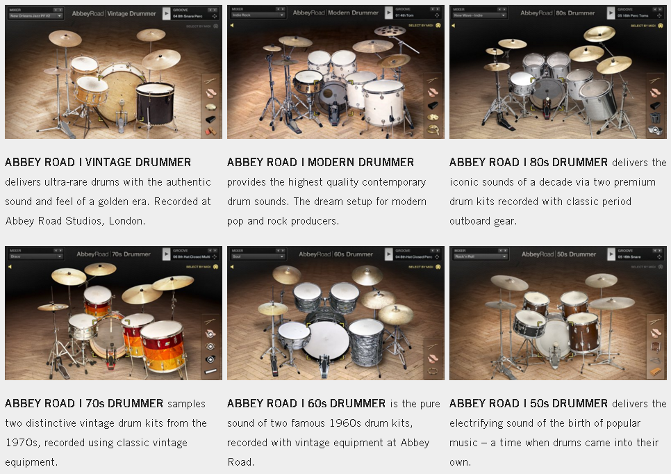 NI Abbey Road Drummer - product overview