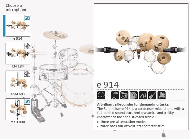 Sennheiser DrumMic'a! - Mic Selection