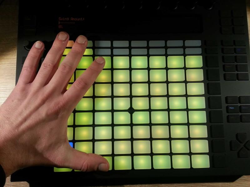 Ableton Push Finger Spread
