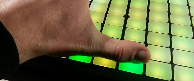 Ableton Push Thumb Placement