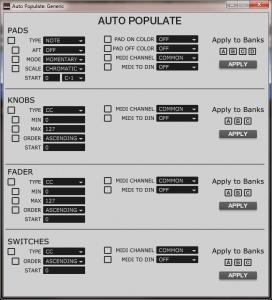 akai mpd226 - auto populate tool
