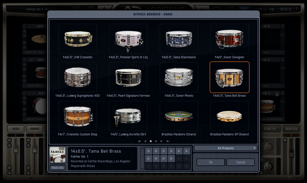 Addictive Drums 2 - Kitpiece Browser