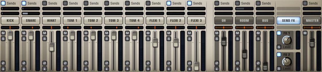 Addictive Drums 2 - Mixer Section