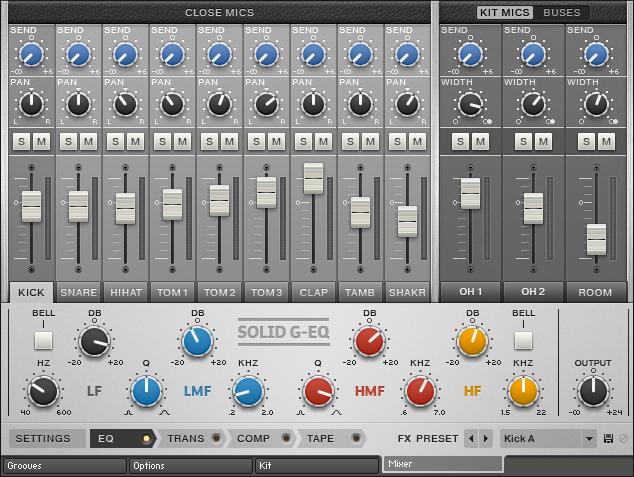 NI Abbey Road Drummer - Mixer Page