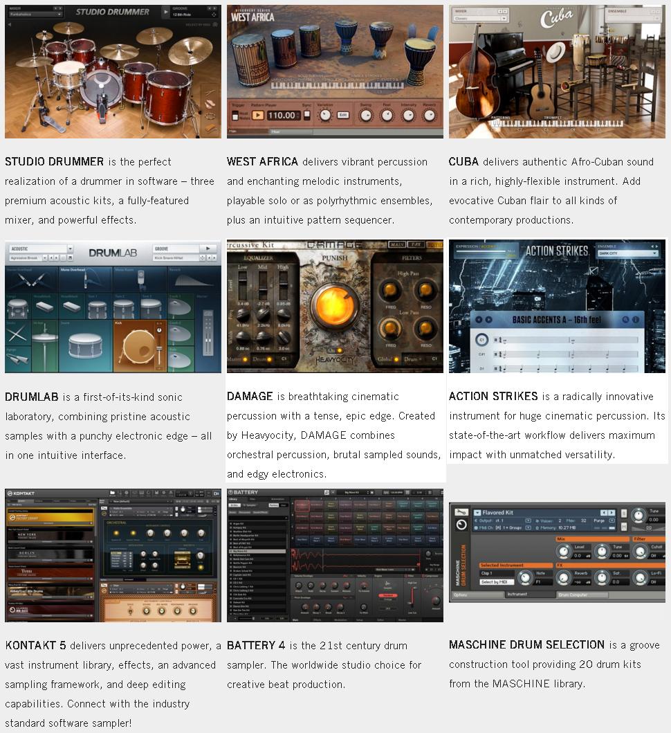 NI Komplete - Other Virtual Drum Instruments