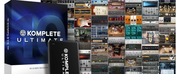 NI Komplete Ultimate 10 Box Shot plus included products overview
