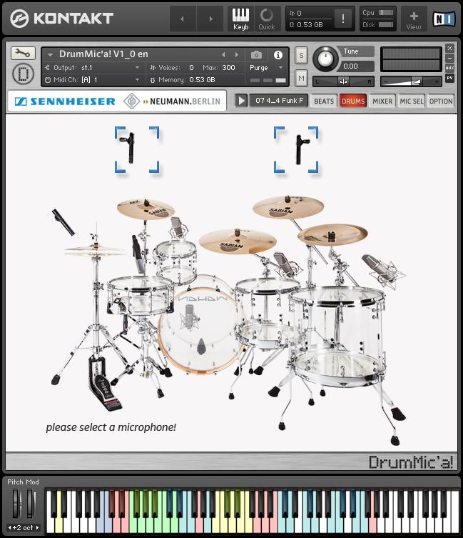 Sennheiser DrumMic'a! - Full View in Kontakt 5