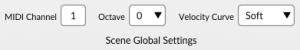 iRig Pads Editor Global Settings Area